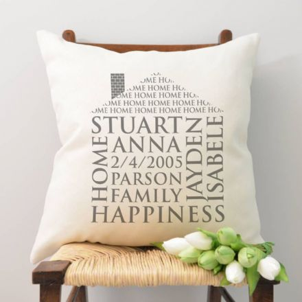 Personalised Home Word Art Cushion